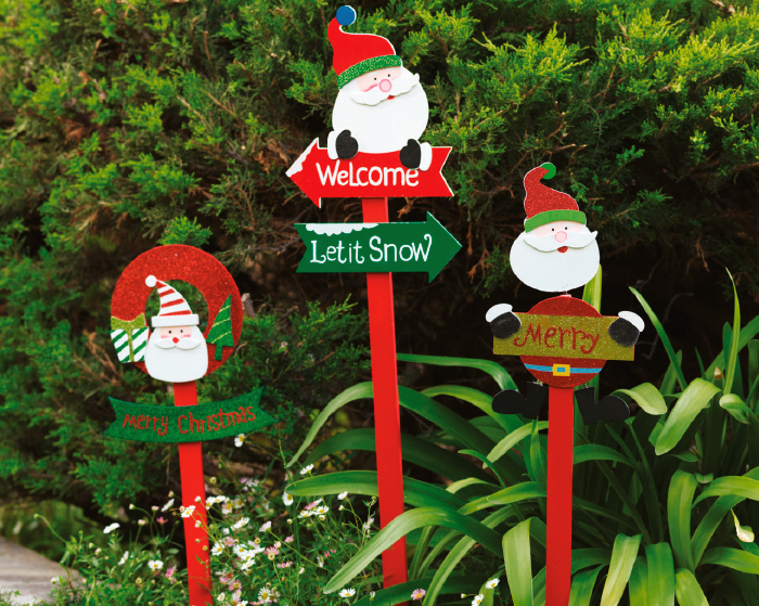 Easy jard n for Ideas para decorar tu jardin en navidad